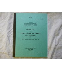Bedford G.S 3TON Cargo 4x4 Parts List Code 19049