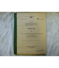 Parts List For Truck 3 TON Fuel Tanker 800 Gallons 4x4 Bedford Code 19430