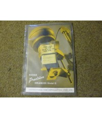 KODAK Precision Enlarger Model 2 Instructions For Installation And Use