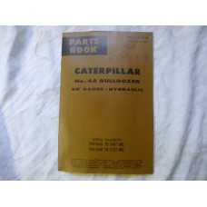 Caterpillar 4A Bulldozer 60 Gauge Hydraulic Parts Book Code 20913