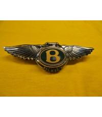 Bentley Arnage 1999 Boot Lock Key Cover Badge Chrome Green Label