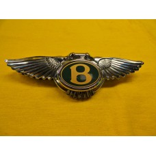 Bentley Arnage 1999 Boot Lock Key Cover Badge Chrome Green Label