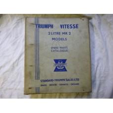 Triumph Vitesse 2-Litre Mark 2 Models Parts Book