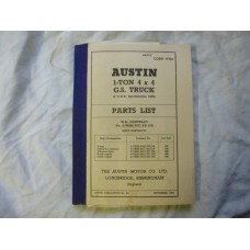 Austin 1Ton 4x4 G.S. Truck Parts List Army Code 17735