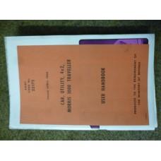 Morris 1000 Traveller User Hand Book.