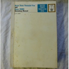 1969 1st Edition Rover Three Thousand Five & Rover 3500S Workshop Manual